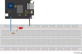 Led Blinking Circuit Diagram My Adventure In Robotics Swift On The Next Thing C H I P