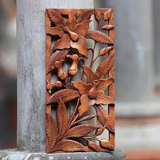 wood wall sculptures floral wood wall sculpture balinese orchids balinese wall
