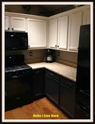 Kitchen Cabinet Top Molding by Kitchen Cabinet Makeover U2013 Install Crown Molding Hello I Live Here