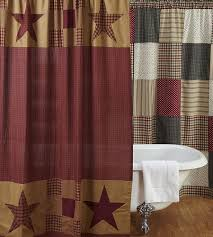 Classic Shower Curtain Country Primitive Shower Curtains From The Patch
