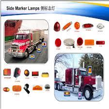 led side marker lights for trucks sae certification waterproof side marker light truck trailer led