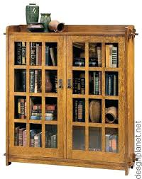 Wooden Bookcase With Glass Doors Wood Bookcase With Glass Doors Bookcases Glass Doors Classic Glass