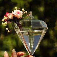 Wholesale Glass Flower Vases Diamond Shape Crystal Glass Vases Wholesale Flower Vases Home