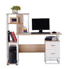 bureau pour ordi homcom bureau pour ordinateur table meuble pc informatique avec