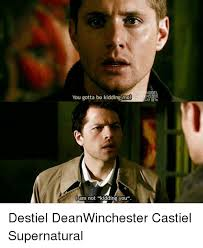 You Gotta Be Kidding Me Meme - you gotta be kidding me i am not kidding you model destiel