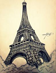 the eiffel tower sketch 1 by lyka g by lykie chan on deviantart