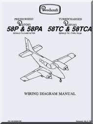 beechcraft baron 58 aircraft wiring diagram manual aircraft