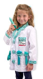 sound of music halloween costumes amazon com melissa u0026 doug doctor role play costume dress up set