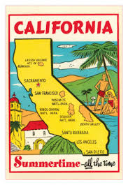 map of california map of california vintage travel and travel posters