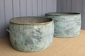 large antique copper planter u0027s garden planter plant pot rivets