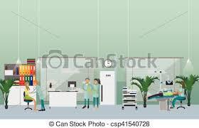 Interior Dental Clinic Vector Illustration Of Dental Clinic Interior Concept Dentist