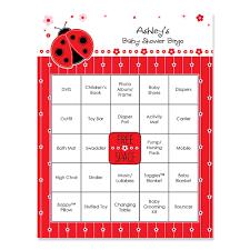 ladybug baby shower modern ladybug personalized baby shower bingo cards