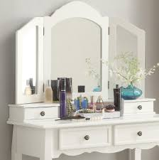 White Wooden Furniture Amazon Com Roundhill Furniture Sanlo White Wooden Vanity Make Up