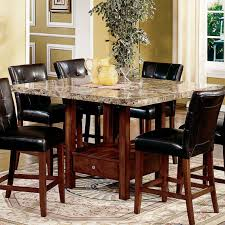 tall round kitchen table brown textured wood cabinet combine black