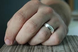 beveled ring sterling silver mens band ring beveled edge ring ring