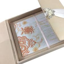 Vip Invitation Cards Large Hand Crafted Linen Box For Wedding Invitation Cards With
