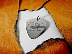 Engraved Guitar Pick Necklace Can Be Personalized Guitar Pick Necklace With Celtic Sign