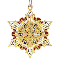 americana snowflake ornament chemart ornaments solid brass
