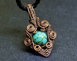 small turquoise pendant necklace images Turquoise jewelry etsy jpg