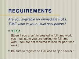 Caljobs Upload Resume California Edd Filing Procedure