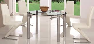Circular Glass Dining Table And Chairs Smart Extendable Glass Dining Table Give Elegant Look