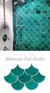 moroccan fish scales for the shower is amazing unique tile with a