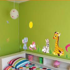 online buy wholesale elephants wallpaper from china elephants hotsale removable diy mural wallpaper elephant horse giraffe wall stickers kids for home decoration china