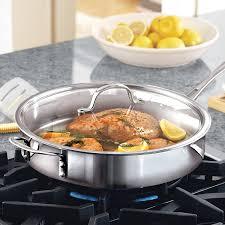 amazon com calphalon tri ply stainless steel 5 quart saute pan