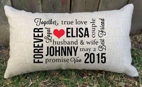 personalised wedding gifts personalised husband lumbar cushion wedding gift