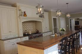 white cabinets wood countertop butcherblock and bar top blog