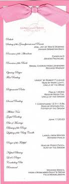 sle of wedding programs ceremony sle wedding program for emcee all things bright