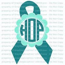 custom awareness ribbons custom awareness ribbon monogram vinyl decal two color your