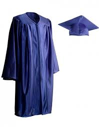 kids cap and gown child shiny royal blue cap gown graduationsource