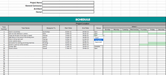 Free Excel Construction Schedule Template Residential Construction Schedule Template 10 Construction Budget
