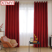 Red Curtains In Bedroom - aliexpress com buy blackout curtains for the bedroom solid