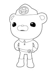 captain barnacles standing octonauts coloring
