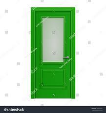 green front door frosted glass stock vector 468072044 shutterstock
