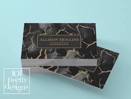 gold marble business card template gold printable business