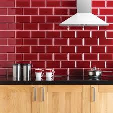 manhattan high gloss bevelled 10x20cm kitchen and bathroom tile in