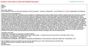 Interior Design Salary Guide Interior Designer Offer Letter