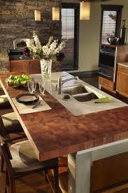 awesome butcher block kitchen island countertop with double bowl