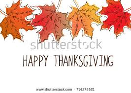 happy thanksgiving card template yellow stock vector 708241951