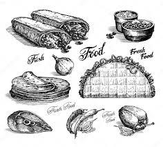food vector fast food vector logo design template burritos or tacos icon