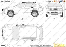 jeep van 2014 the blueprints com vector drawing jeep cherokee