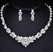 elegant pearl necklace images Elegant pearl bridal jewellery set the bride 39 s basket JPG