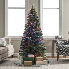 fiber optic pre lit full christmas tree by sterling tree company