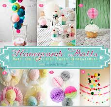 creative ideas for using honeycomb balls as decor