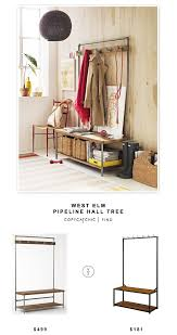 bench archives copycatchic west elm pipeline hall tree for 499 vs carolina cottage sonoma hall bench for 181