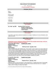 Sample Resume Objectives For Barista by Resume Objective Nursing Free Resume Example And Writing Download