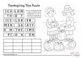 thanksgiving word scramble 1
